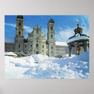 Switzerland, Einsiedeln Benedictine Abbey Poster