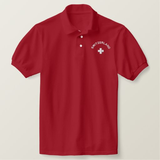 Switzerland Embroidered Polo Shirt