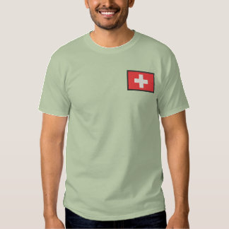 Switzerland Embroidered T-Shirt