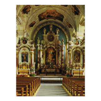 Switzerland, Engelberg Benedictine Abbey Poster