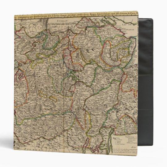 Switzerland engraved map binder