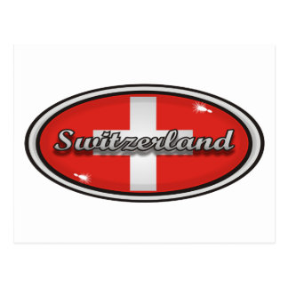 Switzerland flag 1 postcard