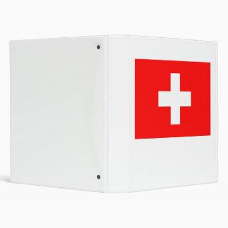 Switzerland Flag 3 Ring Binder