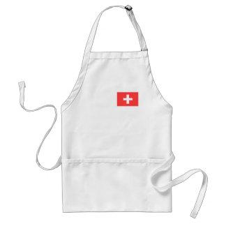 Switzerland Flag Adult Apron