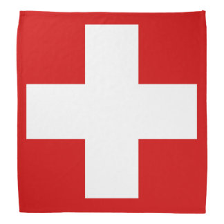 Switzerland Flag Bandana