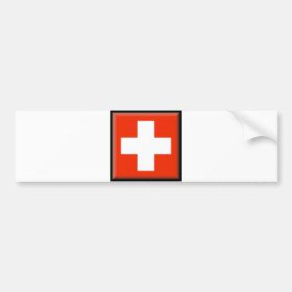 Switzerland Flag Bumper Stickers