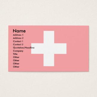 Switzerland Flag Business Card