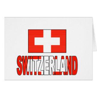 Switzerland flag cards