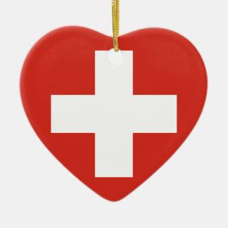 Switzerland Flag Ceramic Ornament