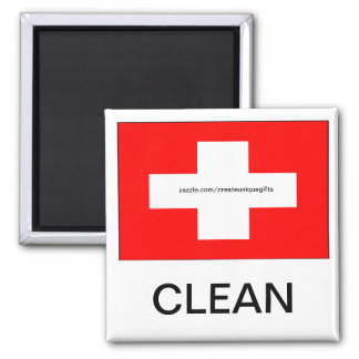 Switzerland Flag Clean Dishwasher Magnet