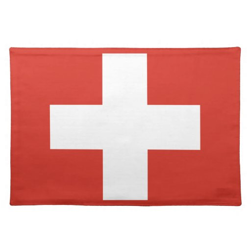 Switzerland Flag Cloth Placemat