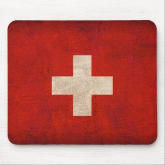 Switzerland Flag Distressed Mousepad