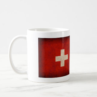Switzerland Flag Distressed Mug