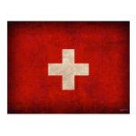 Switzerland Flag Distressed Postcards