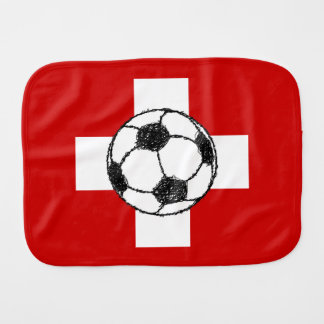 Switzerland Flag | Football Ball Burp Cloth