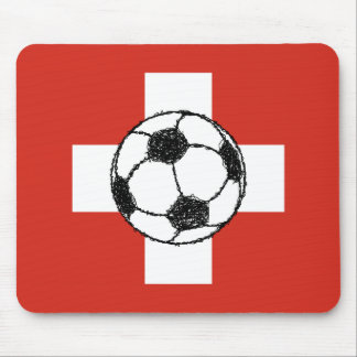 Switzerland Flag   Football Ball Mouse Pad
