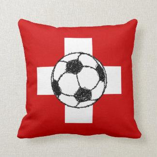 Switzerland Flag   Football Ball Pillow