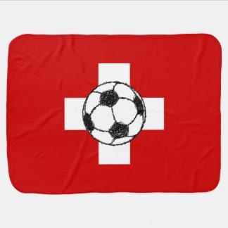 Switzerland Flag | Football Ball Stroller Blanket