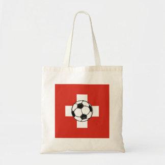 Switzerland Flag   Football Ball Tote Bag