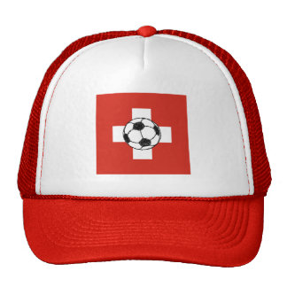 Switzerland Flag | Football Ball Trucker Hat