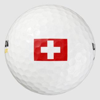 Switzerland Flag Pack Of Golf Balls