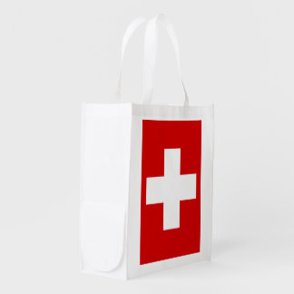 Switzerland Flag Grocery Bag