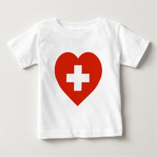 Switzerland Flag Heart Baby T-Shirt
