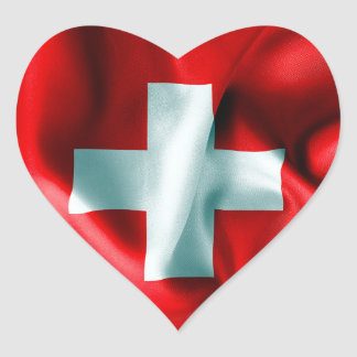 Switzerland Flag Heart Sticker
