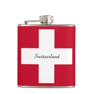 Switzerland Flag Hip Flask