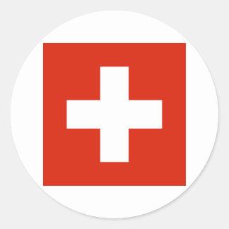 Switzerland FLAG International Classic Round Sticker