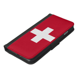 Switzerland Flag iPhone 6/6s Plus Wallet Case