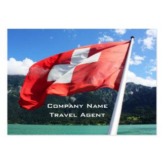Switzerland flag large business card