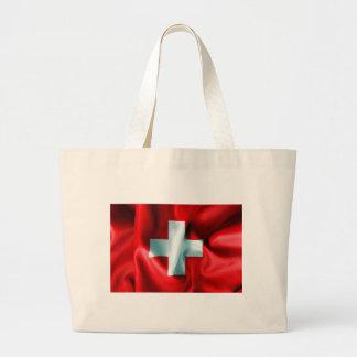 Switzerland Flag Large Tote Bag