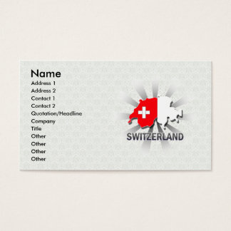 Switzerland Flag Map 2.0 Business Card