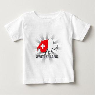 Switzerland Flag Map 2.0 Tshirts