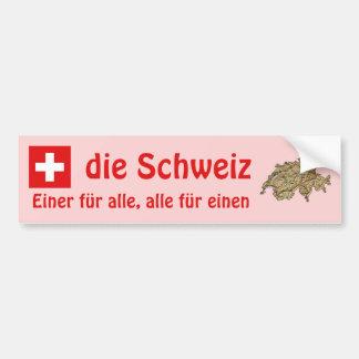 Switzerland Flag + Map Bumper Sticker