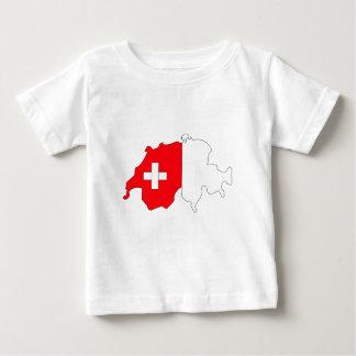 Switzerland Flag Map full size T Shirts