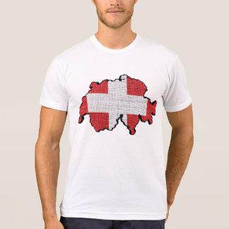 Switzerland Flag Map Tee Shirt