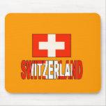 Switzerland flag mouse pad