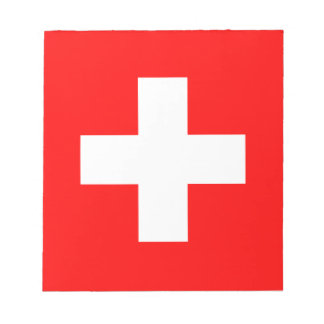 Switzerland Flag Notepad