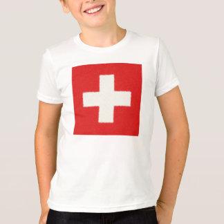 Switzerland Flag Oil Painting T-Shirt