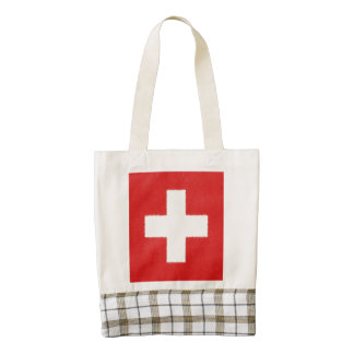 Switzerland Flag Oil Painting Zazzle HEART Tote Bag