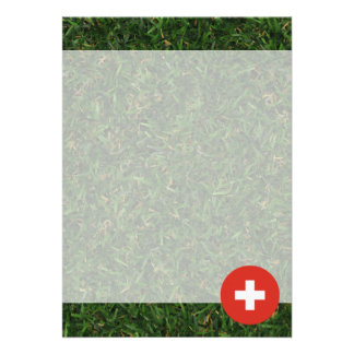 Switzerland Flag on Grass Card