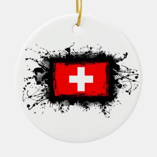 Switzerland Flag Christmas Ornaments