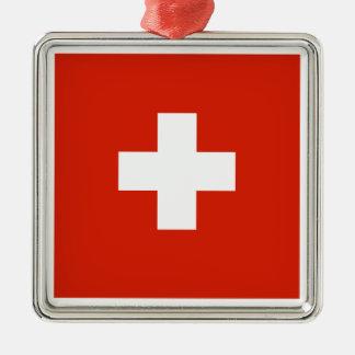 Switzerland Flag Christmas Tree Ornaments