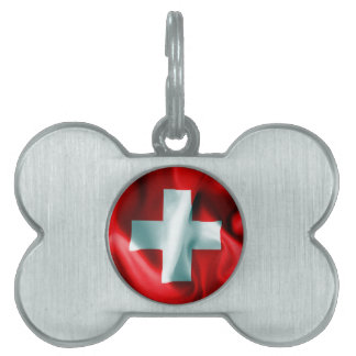 Switzerland Flag Pet ID Tag