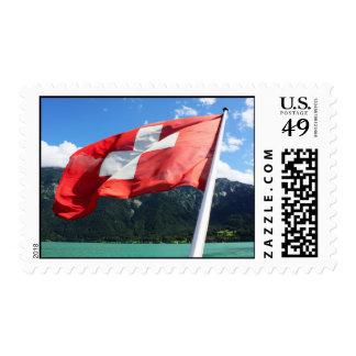 Switzerland flag postage stamps