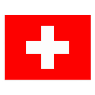 Switzerland Flag Postcard