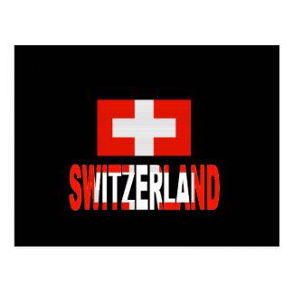 Switzerland flag postcard