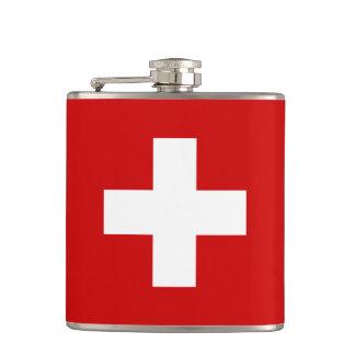 Switzerland flag quality hip flask